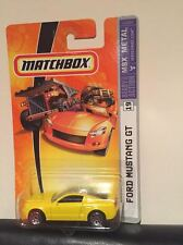 MATCHBOX Mustang 2006 2007 Yellow HARD TO FIND COLOR MOC RARE! Free Shipping
