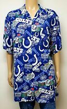 🏈 NFL Indianapolis Colts Hawaiian Shirt Rayon All Over Print Mens sz XLT Blue