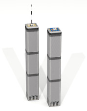 CUSTOM LEGO BUILDING Twin Towers: New York. Skyscraper SIZE 43,5 inches HEIGHT