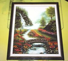 "Waterfall Cross Stitch Kit Bridge Stream size 13"" x 18"" New in Package  --PPX"