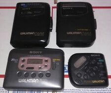 Vintage Lot of 4 Cassette Players for parts or repair. Sony