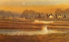"Michael Gress ""At Peace (Tepees)"" Signed Fine Art Print native amer themed, OBO"
