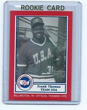 Frank Thomas 1990 1987 United States Baseball Federation BDK Rookie Card #23