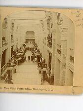 Kilburn  Stereoview 1890's Real Photograph US Patent Office Washington DC  VGC