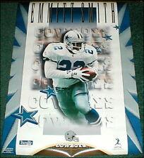 Emmitt Smith Dallas Cowboys NFL Football Poster vtg original new unused 1990s
