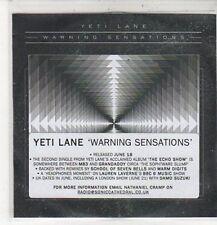 (CZ523) Yeti Lane, Warning Sensations - DJ CD