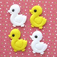 """US SELLER 80pc x 1"""" Padded Felt Baby Duckies Appliques for Card/Scrapbook ST225A"""
