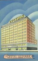 "Minneapolis MN ""The Hotel Dyckman"" Linen Postcard Minnesota *FREE U.S. Shipping*"