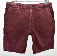 American Eagle Slim Next Level Flex Shorts Chino Size 33 Purple Meas. 33 x 8.75