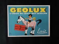 Buvard GEOLUX vintage, marque de peinture LEVIS L' émail de luxe Dimension : 16