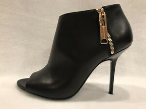 Burberry Prorsum Black Assendon Open Peep Toe Stiletto Booties 9 (39) *NEW* $900