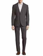 NEW $795 Hugo Boss Modern Fit Medium Grey Wool Suit Johnstons1 Lenon 40R 36W