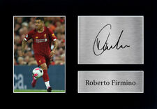 More details for roberto firmino signed a4 framed printed autograph liverpool lfc print gift