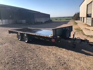 2014 Ifor Williams lm166 16ft flat trailer