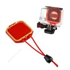 Underwater Sea Diving Lens Filter Cap for GoPro Hero 3+ Hero 4 Housing Case Red