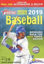 2019 Topps Heritage High Number Baseball Factory Sealed HANGER Box! On Fire!