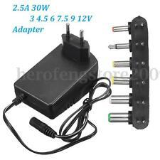 Universal AC DC 2.5A Adapter Converter 3 4.5 6 7.5V 9V 12V Power Supply Charger