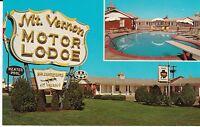 "Springfield MO ""Mount Vernon Motor Lodge"" Rt 66 Postcard  Missouri *FREE US SHIP"