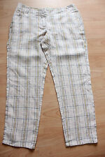 BODEN  check linen crop trousers size 10R NEW