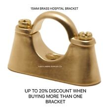 15mm Brass Hospital Bracket - Various Sizes, Brass  - Pipe Clips/copper pipe