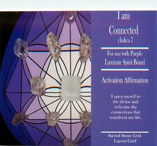 "I AM CONNECTED Grid Card 4x6"" Heavy Cardstock For Use with Healing Crystals"