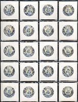 1952-53 Winnipeg Blue Bombers Football Pins (27/30) Near Set - NM.  w/Bud Grant
