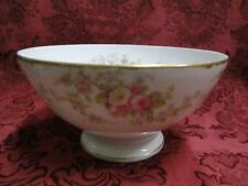 """Bawo & Dotter, BWD56, Limoges,Pink & White Roses, Gold Trim: Footed Bowl 6 1/8"""""""