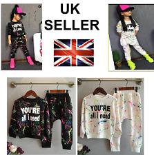 Girls Summer Outfit Dress Pajamas Set Kids Nightwear Top Sportswear Apparel Polo
