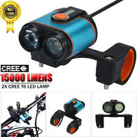 15000LM 2x XML T6 LED 4 Modes Bicycle Lamp Bike Light Headlight Cycling Torch US