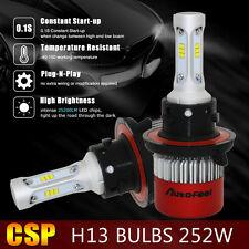 H13 9008 252W 25200LM Philips LED HEADLIGHT Kit HI/LOW BEAM 6500K BULBS Canbus