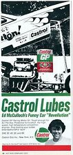 1973 Print Ad of Castrol GP Racing Motor Oil Ed McCulloch Funny Car Revellution