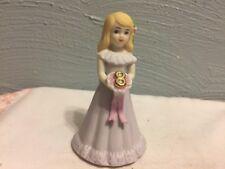 Enesco 1981 Growing Up Birthday Girls Figurine Blonde Hair Age 8 Cake Topper