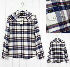 NEW LEE 101 RIDER FLANNEL SHIRT CHECK WHITE/BLUE/GREEN/RED SAW TOOTH S/M/L/XL