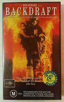 Backdraft VHS 1991 Thriller Ron Howard Kurt Russell Universal / CIC Video Small