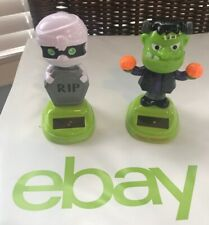 New Solar Powered Dancing Toy Halloween Rip and Frankenstein Lot Of Two