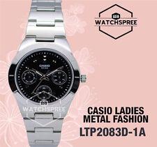 Casio Women Analog Quartz Day Date Watch Ltp-2083d-1av Stainless Steel Silver