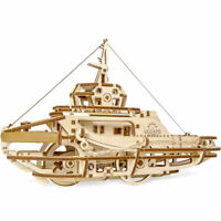 UGEARS Tugboat - Mechanical Wooden Model Kit 70078