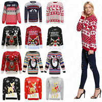 Womens Christmas Ladies Novelty Fairisle Penguin Reindeer Santa Snow Xmas Jumper