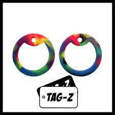 2 Rainbow / Tye Die Dog Tag Silencers - Military GI Silencer - Tag-Z