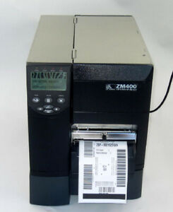 Zebra ZM400 Direct Thermal & Thermal Transfer Label Printer w/ Automatic Cutter