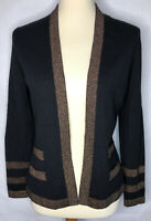 Womens NEIMAN MARCUS Cashmere Cardigan Sweater Size Small Black