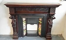 Antique Victorian fire surround & cast iron insert