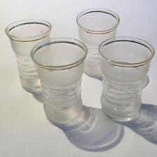 4 verres à alcool avec liseré or « oheco Slovaquie »