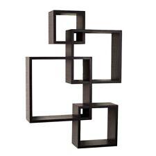 Danya B Intersecting Cube Shelves, Espresso - BR1023ES