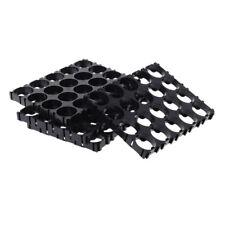 Black 4X 18650 Battery 4x5 Cell Spacer Radiating Shell Pack Heat Holder Plastic