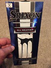 SRIXON ALL WEATHER GOLF GLOVE NEW WHITE / BLACK MENS Size M  REG  LEFT