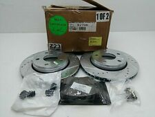 Power Stop K2798 Front Disc Brake Rotor Cross-Drilled and Slotted + brake pads
