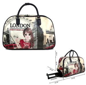 Ladies London Holdall Weekend Bag Big Ben Trolley Hand Luggage Travel Handbag