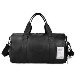 2019 Men Women Outdoor Travel Bag Leather Waterproof Duffel Gym Large Handbag