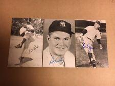 Ed Lopat NY Yankees Signed Vintage Postcard 1950s JSA Precertified
